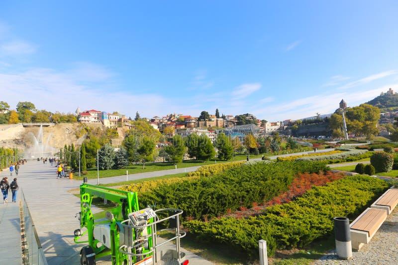 Park - Tbilisi Georgië royalty-vrije stock afbeelding