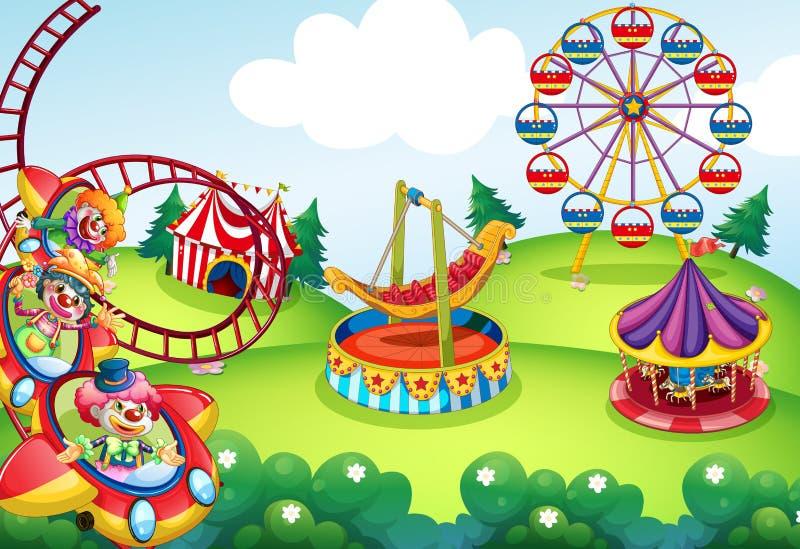 Park tematyczny royalty ilustracja