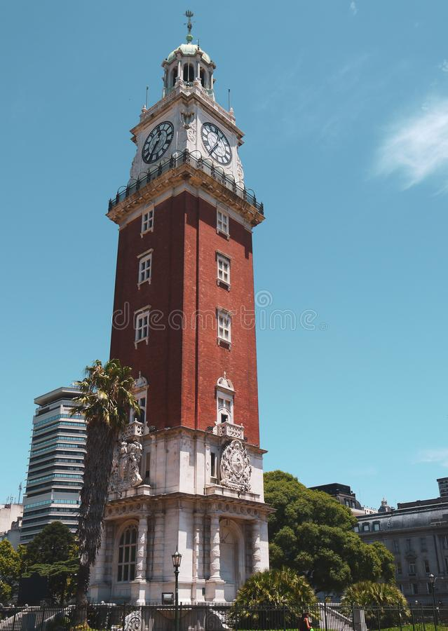 San martin square in buenos aires. Park and tower near San Martin square in Buenos Aires in Argentina stock images