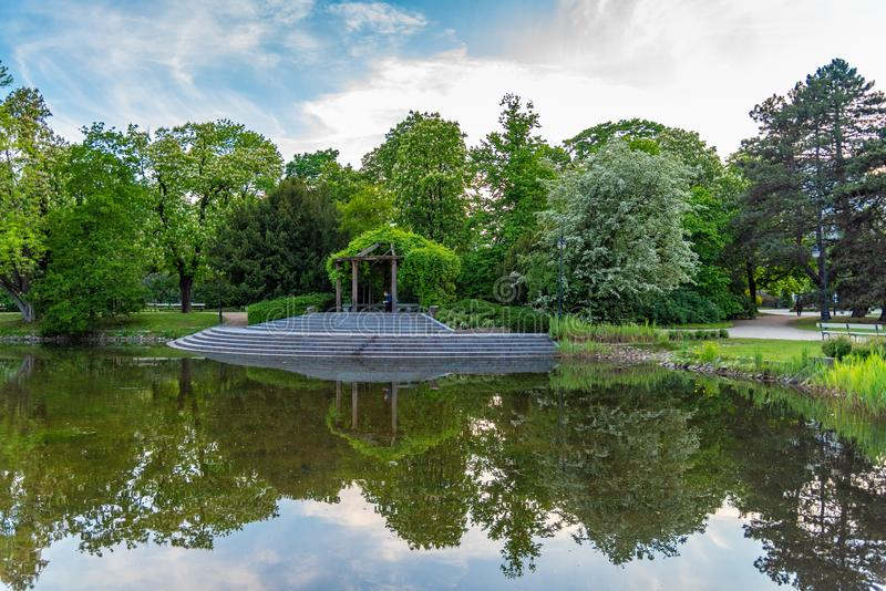 Park Ujazdowski is one of the most picturesque parks of Warsaw, Poland royalty free stock photography