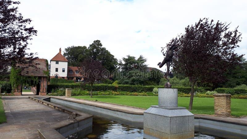 Park und Garten Rowntree im Sommer York North Yorkshire England Großbritannien lizenzfreie stockbilder