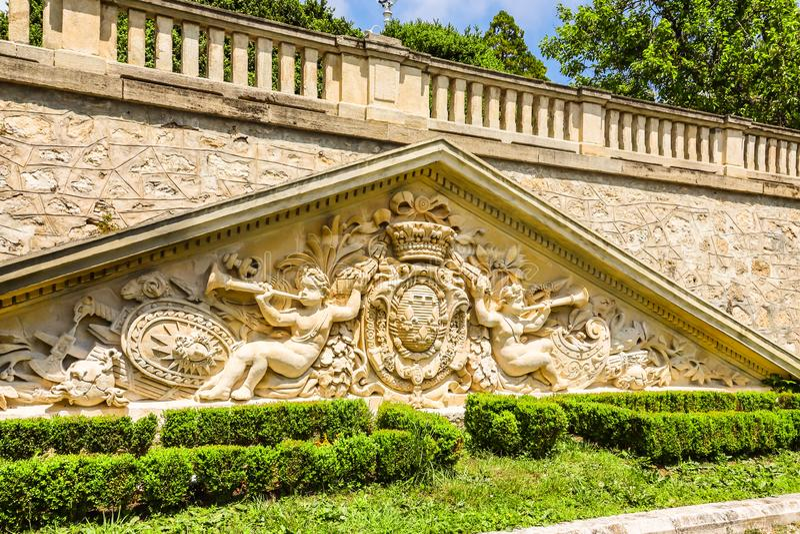 Park und Palast Evxinograd oder Evksinograd Varna, Bulgarien lizenzfreies stockbild