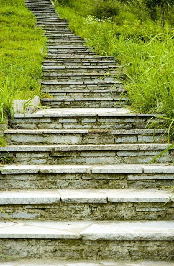 Park uppför trappan royaltyfria foton