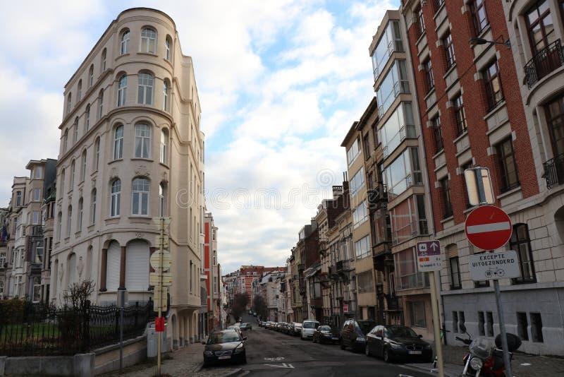 Park van de Vijftigste, Brussel, België stock afbeelding