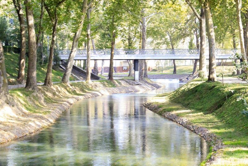 Park van ecologisch stock afbeelding