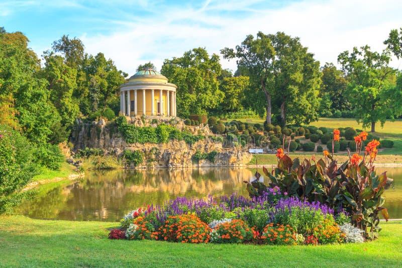 Park van Esterhazy-Paleis, Leopoldina Temple royalty-vrije stock afbeelding