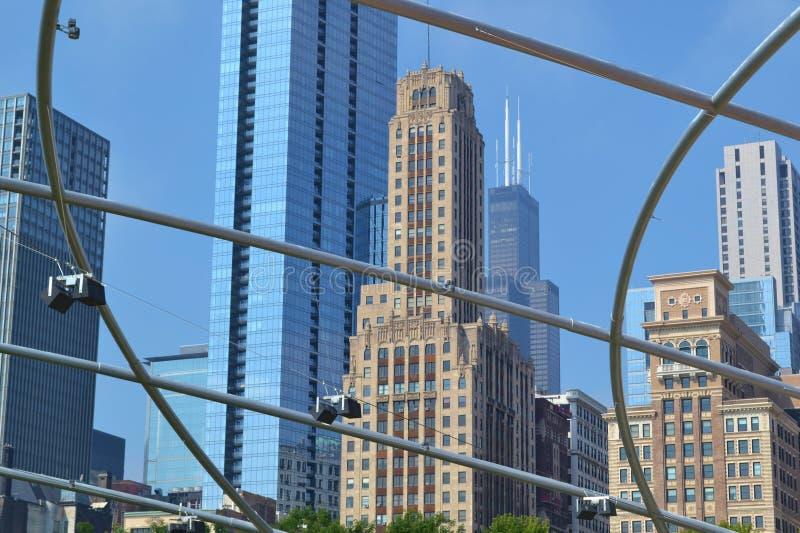 Park van het de horizon het openluchttheater van Chicago stock afbeeldingen
