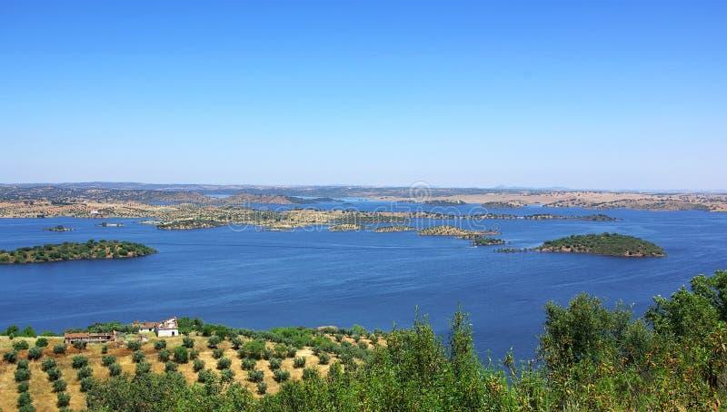 Park van Meer Alqueva. stock fotografie