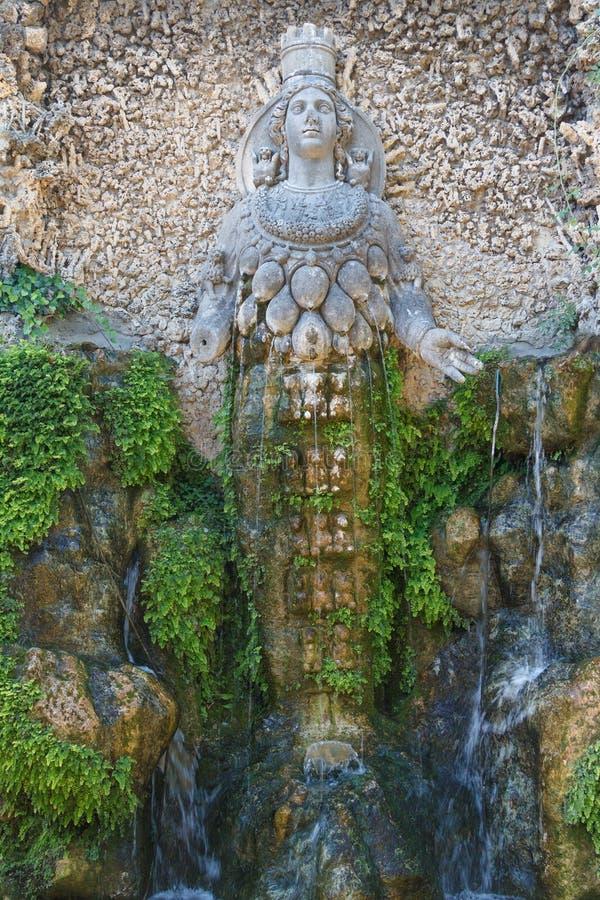 Park of Villa d'Este in Tivoli royalty free stock photos