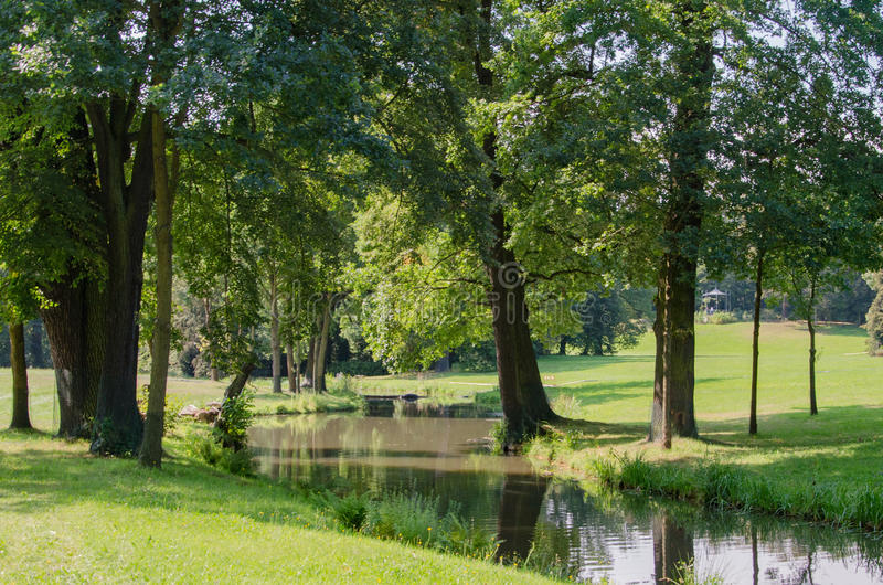 Park von Muskau, Muskauer Park lub Fürst-Pückler-Park, Park Mużakowski stock images