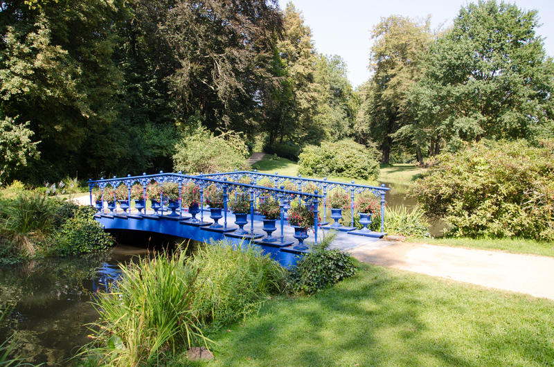 Park von Muskau, Muskauer Park lub Fürst-Pückler-Park, Park Mużakowski royalty free stock images