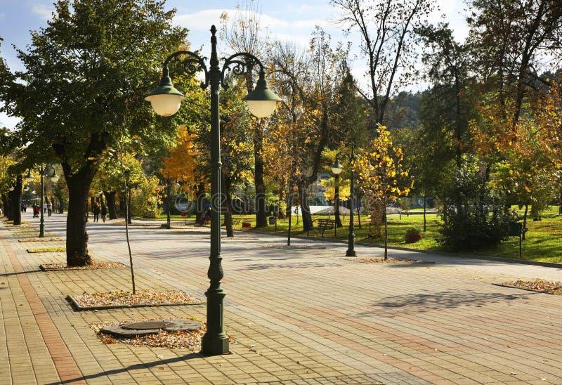Park w Bitola miasteczku macedonia obraz stock