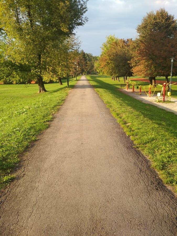 Park w Karlovac obrazy royalty free