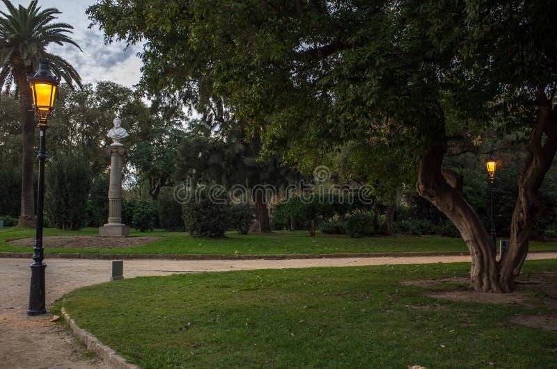 Park w mieście obrazy royalty free