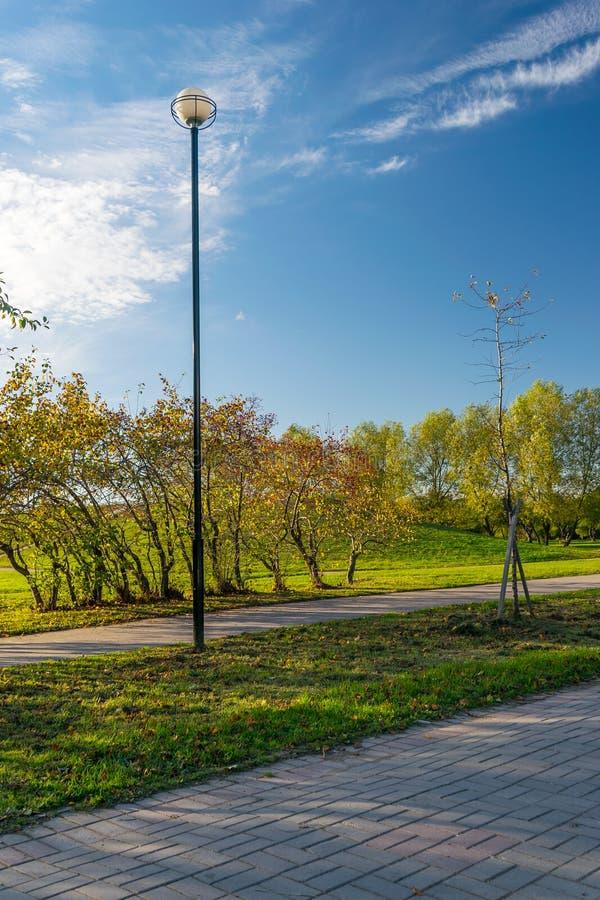 Park w mieście St Petersburg obrazy stock
