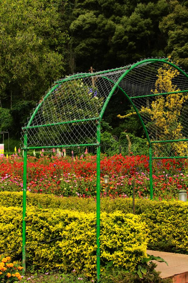 Park way and arch in the bryant park. Park way and arch in the bryant park, kodaikanal. Kodaikanal is a city near Palani in the hills of the Dindigul district stock image