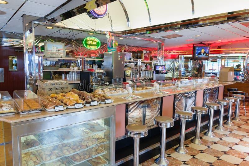 Park West Diner New Jersey fotos de stock royalty free