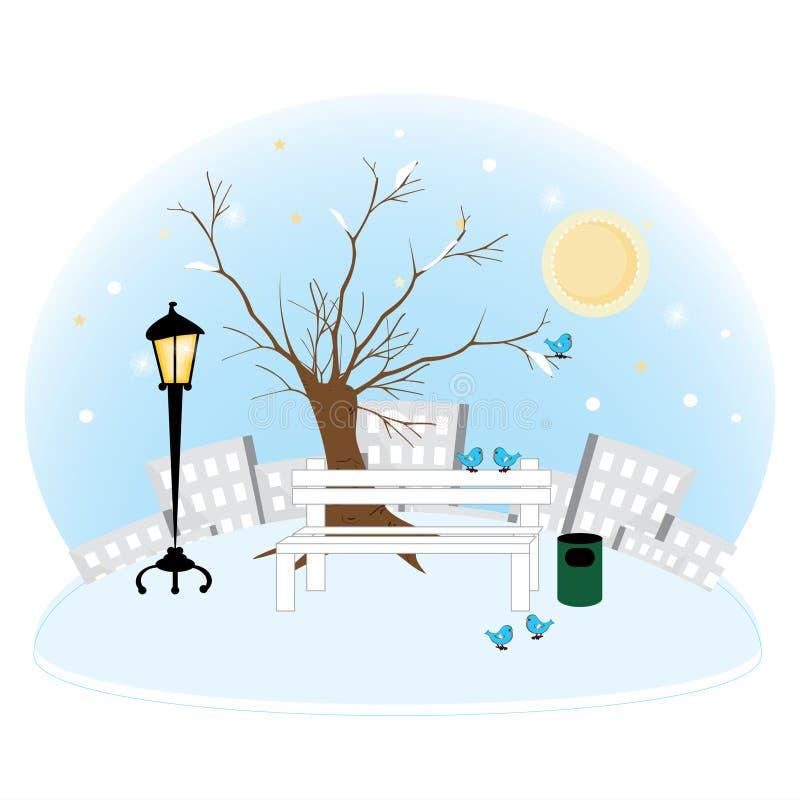 Download Park_winter stock vector. Illustration of lamp, gloss - 27374363