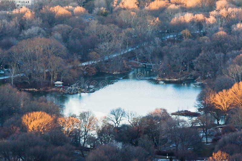 park york för lake för central stad ny royaltyfria foton