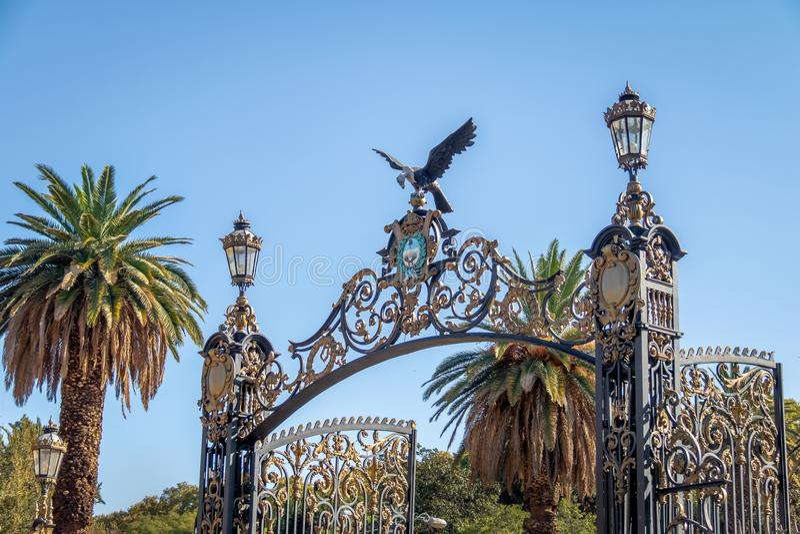 Park Zakazuje Portones Del Parque przy generałem San Martin Parkujący, Mendoza -, Argentyna fotografia royalty free