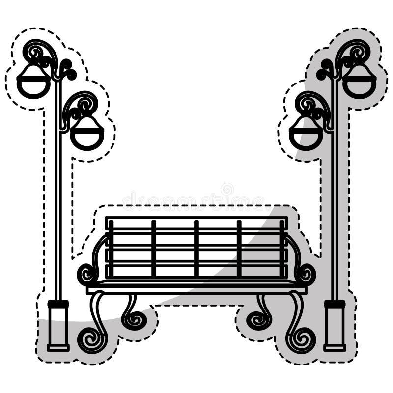 Parkbankikone vektor abbildung