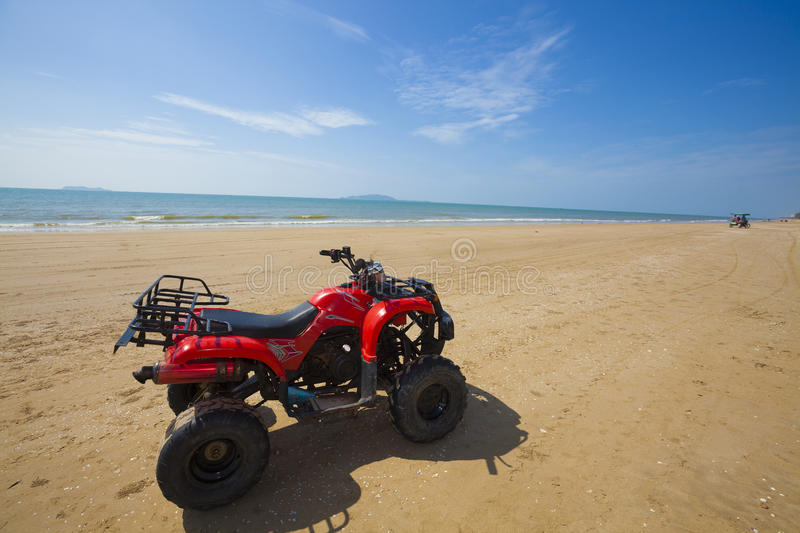 Parked atv stock images