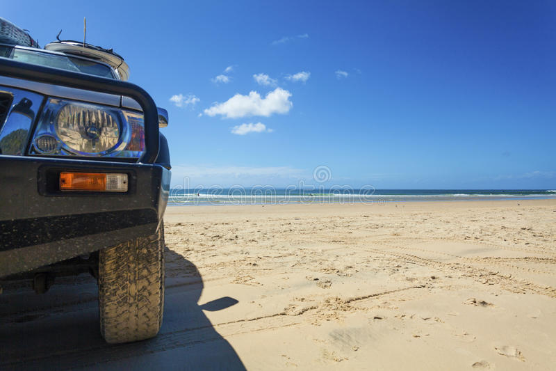 Parked on the beach royalty free stock photos
