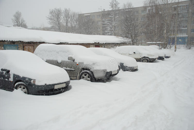Download Parked Cars Covered With Snow Stock Image - Image: 23227835
