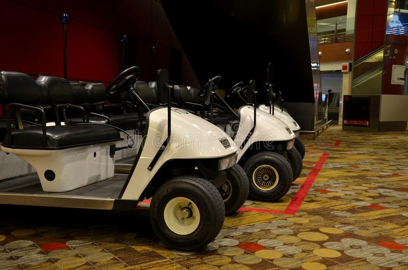 Parked Golf Carts At Singapore Changi Airport Editorial Photography