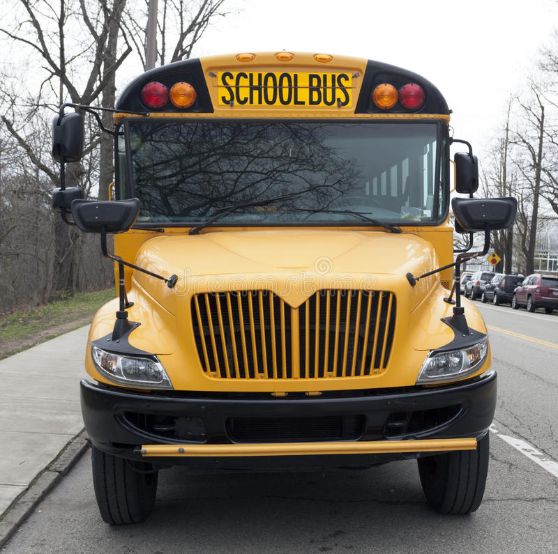 Parked School Bus royalty free stock images