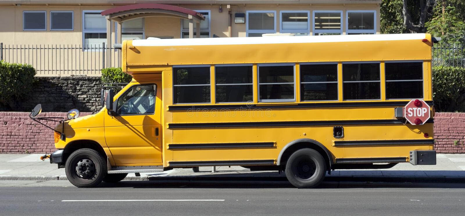 Parked School Bus stock images