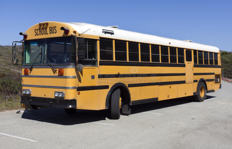 Parked School Bus royalty free stock photography