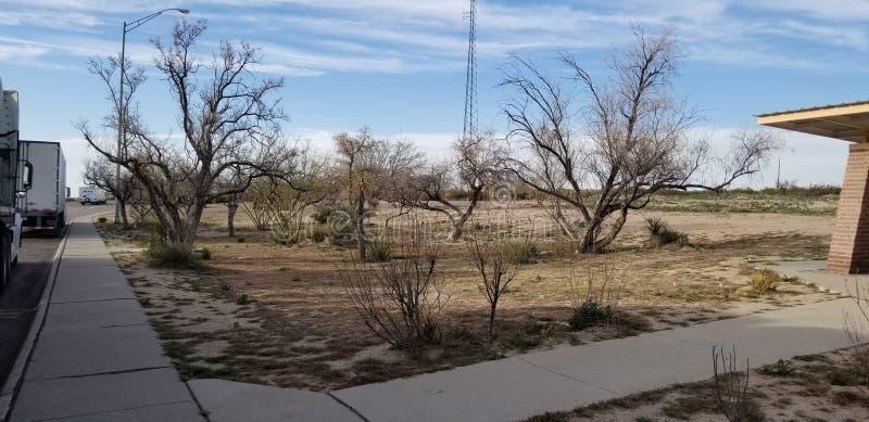 Parkeerplaats in Arizona stock afbeelding