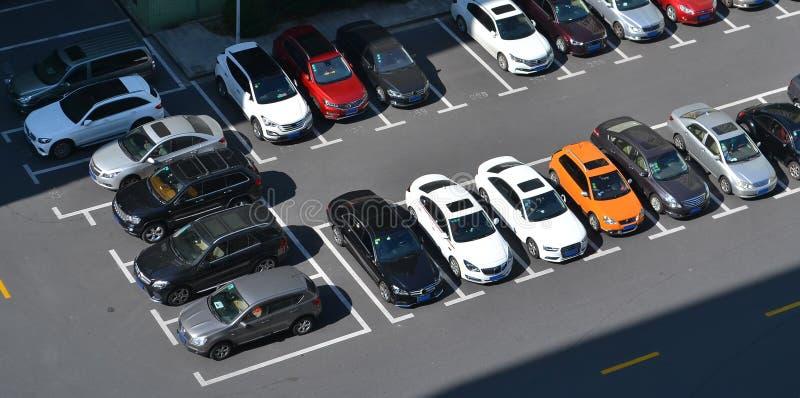 Parkeerterrein royalty-vrije stock afbeeldingen