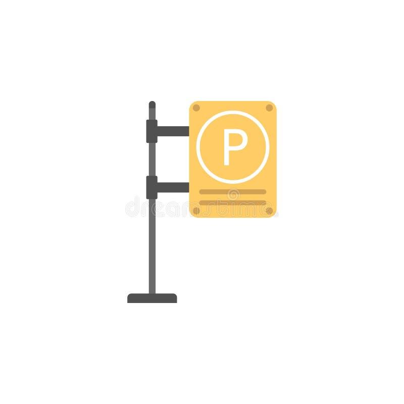 Parkeerterrein gekleurd pictogram Element van verkeersteken en verbindingenpictogram voor mobiel concept en Web apps Het gekleurd stock illustratie