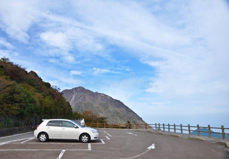 Parkeerterrein op het punt van de Mening stock fotografie