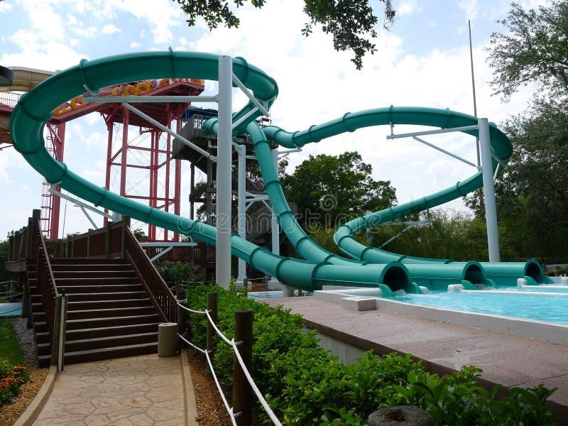 parken glider vatten arkivbild