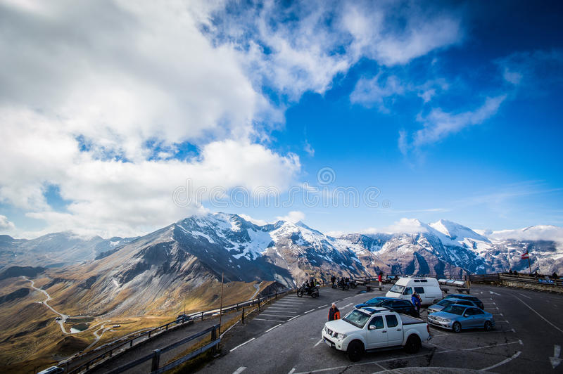 Parken im Himmel lizenzfreie stockfotografie
