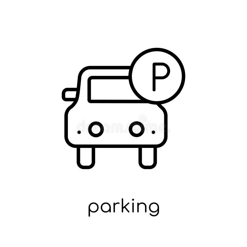 Parkende Ikone von der Sammlung lizenzfreie abbildung