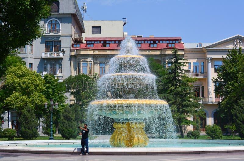 Parkenpf Baku stad stock fotografie