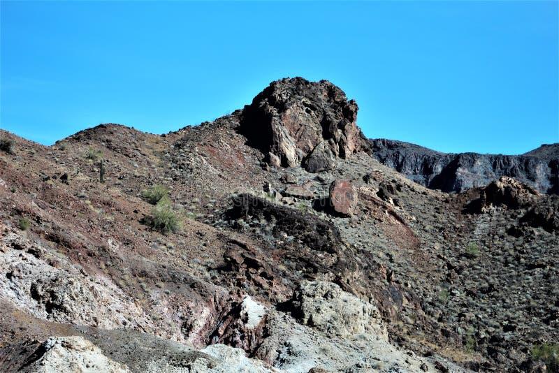 Parker, Arizona, La Paz County, United States. Scenic mountain desert landscape in Parker, Arizona located in La Paz County in the United States royalty free stock image