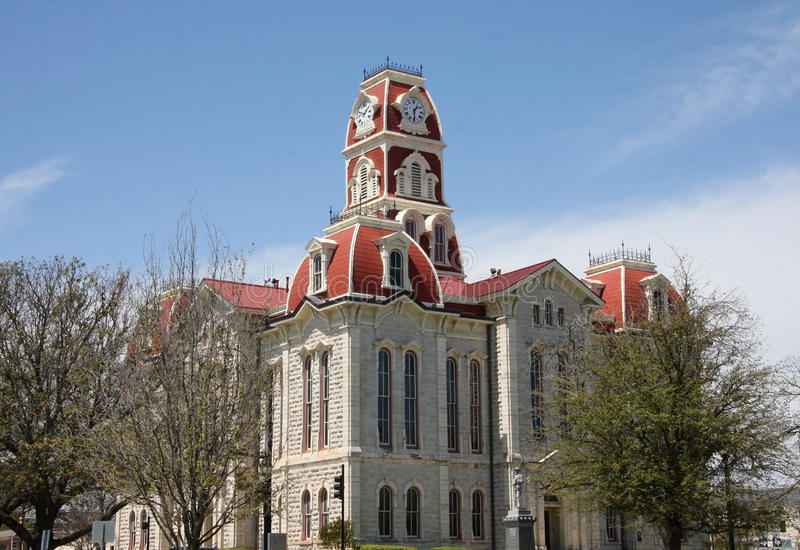Parker county courthouse royalty free stock images
