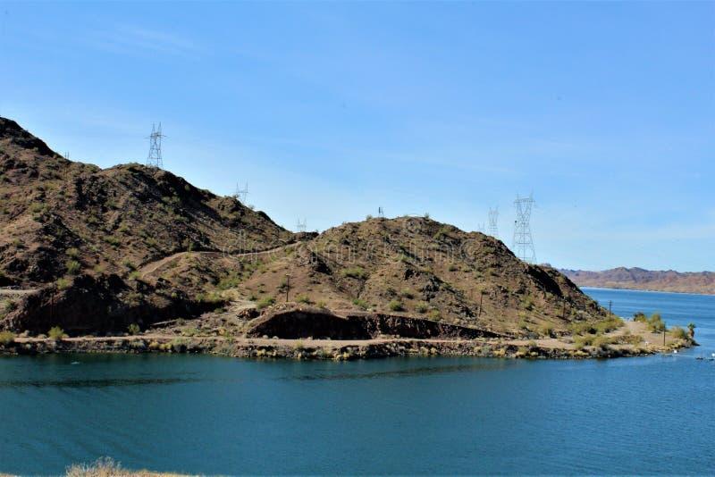 Parker Dam, Parker, Arizona, La Paz County, Verenigde Staten stock afbeeldingen