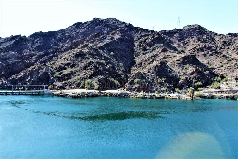 Parker Dam, Parker, o Arizona, La Paz County, Estados Unidos fotografia de stock royalty free