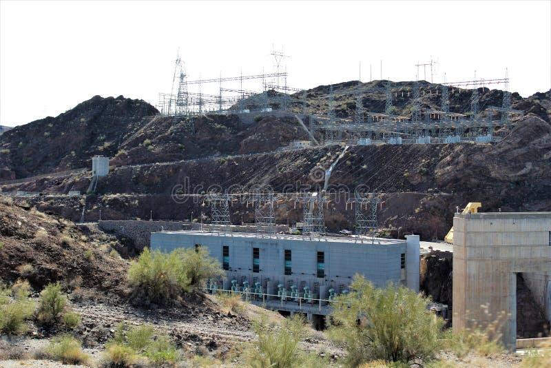 Parker Dam, Parker, o Arizona, La Paz County, Estados Unidos foto de stock