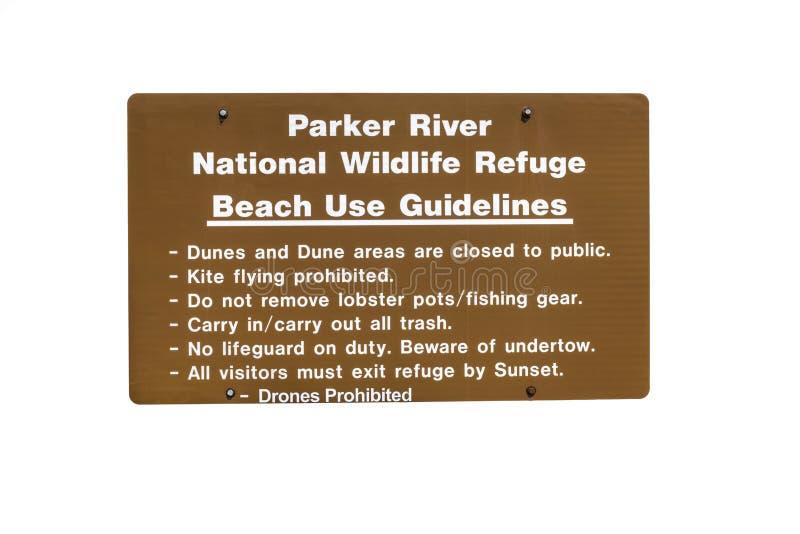 Parker River National Wildlife Refuge sign royalty free stock images