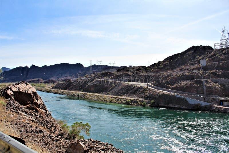 Parker tama, Parker, Arizona, losu angeles Paz okręg administracyjny, Stany Zjednoczone obraz stock