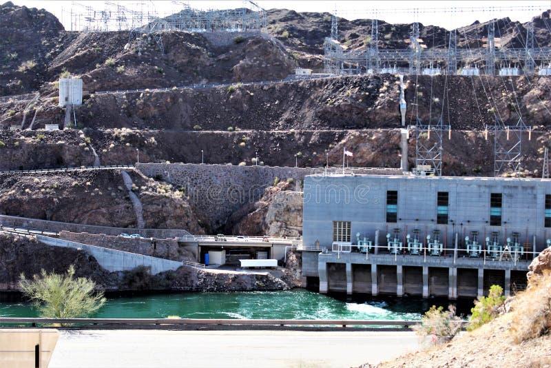 Parker tama, Parker, Arizona, losu angeles Paz okręg administracyjny, Stany Zjednoczone zdjęcia royalty free