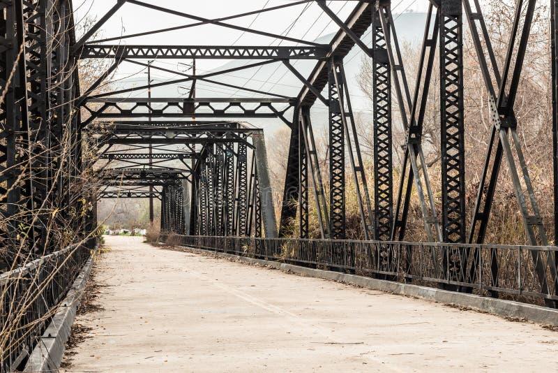 Parker Truss Bridge em San Diego, Califórnia fotografia de stock royalty free