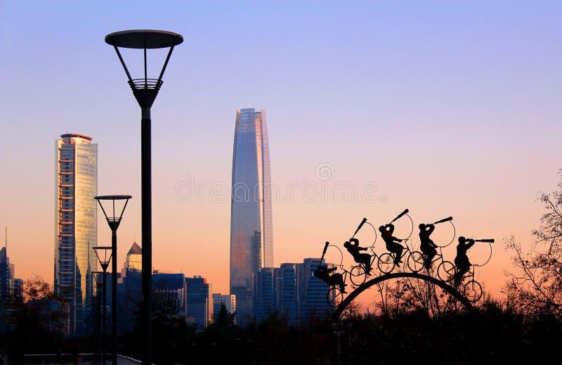 Parkera Bicentenario, Santiago Chile arkivfoto